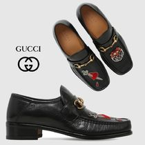 GUCCI Loafers Leather U Tips Loafers & Slip-ons