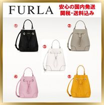FURLA STACY Casual Style 2WAY Plain Leather Shoulder Bags