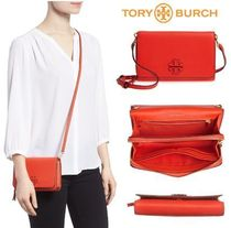 Tory Burch 2WAY Plain Leather Shoulder Bags