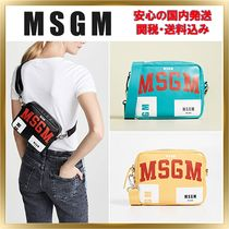 MSGM Casual Style Unisex Leather Shoulder Bags