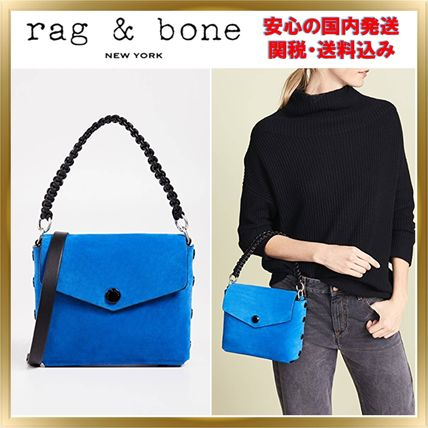 Suede 2WAY Plain Elegant Style Crossbody Shoulder Bags