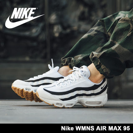 arrive 5f88b 883a1 Nike AIR MAX 95 2018-19AW Unisex Street Style Low-Top Sneakers (307960-112)