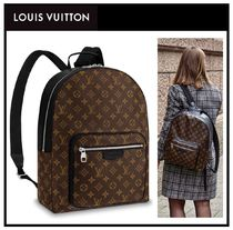 Louis Vuitton MONOGRAM MACASSAR Canvas A4 Backpacks