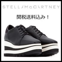 Stella McCartney ELYSE Star Square Toe Platform Lace-up Casual Style Bi-color