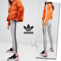 adidas Stripes Street Style Plain Cotton Leggings Pants