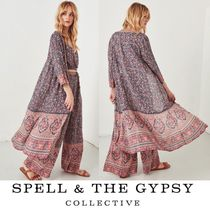 SPELL Flower Patterns Casual Style Long Outerwear