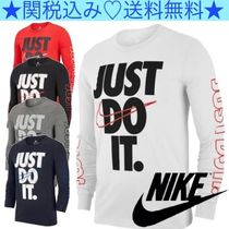 Nike Crew Neck Pullovers Long Sleeves Plain Cotton