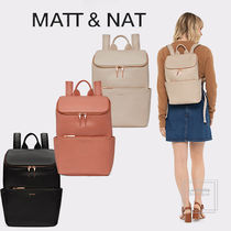 MATT&NAT Casual Style Faux Fur A4 Plain PVC Clothing Office Style