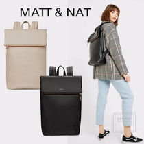 MATT&NAT Casual Style A4 Plain PVC Clothing Office Style Oversized