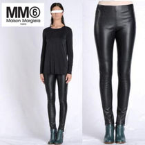 Maison Martin Margiela Unisex Plain Leather Leather & Faux Leather Pants