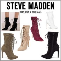 Steve Madden Lace-up Suede Pin Heels Lace-up Boots