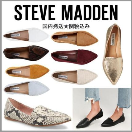Glen Patterns Casual Style Suede Plain Bold Slip-On Shoes