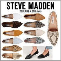 Steve Madden Glen Patterns Casual Style Suede Plain Bold Slip-On Shoes