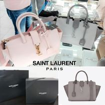 Saint Laurent DOWNTOWN Suede 2WAY Elegant Style Shoulder Bags