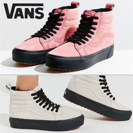 5786f5610a8 ... VANS Platform   Wedge Platform Casual Style Suede Street Style  Collaboration ...