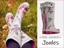 Joules Clothing Flower Patterns Round Toe Rubber Sole Elegant Style