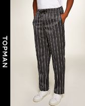 TOPMAN Printed Pants Stripes Patterned Pants