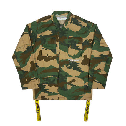 Camouflage Street Style Long Jackets