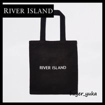 River Island Casual Style Canvas A4 Plain Totes