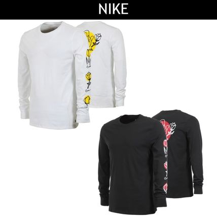 ... Nike Long Sleeve Crew Neck Flower Patterns Street Style Long Sleeves  Cotton ... df2373460e5e