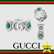 GUCCI Flower Party Style Silver Rings