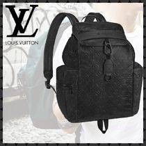 Louis Vuitton Monogram Blended Fabrics Street Style A4 Leather Backpacks