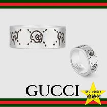 GUCCI Skull Street Style Silver Rings