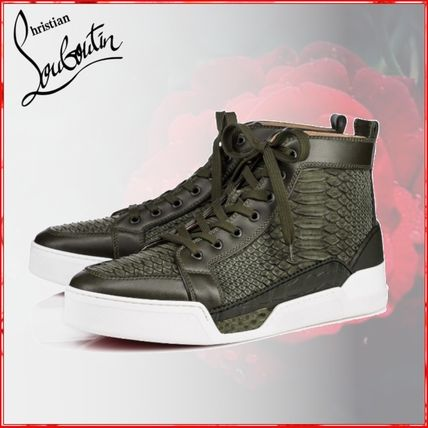 16e247dd996c ... skin high tops mens sneakers ivory athletic 5cd6c afca8  get christian  louboutin sneakers plain leather python sneakers b7ec3 0d3f3