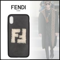 FENDI Plain Leather Smart Phone Cases