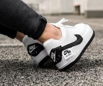 Nike AIR FORCE 1 Casual Style Street Style Bi-color Leather Low-Top Sneakers