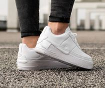 Nike AIR FORCE 1 Casual Style Street Style Plain Leather Low-Top Sneakers
