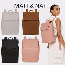MATT&NAT Casual Style Unisex A4 Plain PVC Clothing Office Style