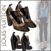Louis Vuitton MONOGRAM Monoglam Plain Toe Blended Fabrics Bi-color Leather