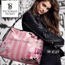 Victoria's secret Stripes Canvas A4 Elegant Style Totes