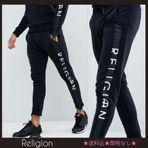 Religion Street Style Plain Cotton Skinny Fit Pants
