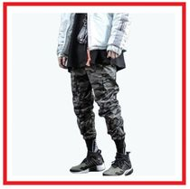 Camouflage Street Style Cotton Cargo Pants