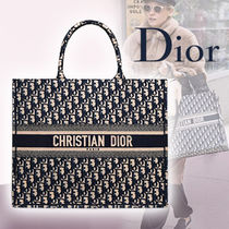 Christian Dior Casual Style Canvas A4 2WAY Bi-color Totes