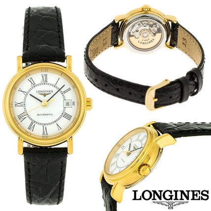 Casual Style Leather Round Mechanical Watch Analog Watches
