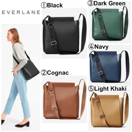 Casual Style 2WAY Plain Leather Crossbody Totes