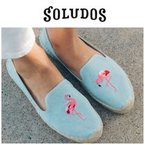 SOLUDOS Tropical Patterns Platform Round Toe Casual Style