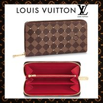 Louis Vuitton ZIPPY WALLET Monogram Unisex Canvas Studded Bi-color Long Wallets