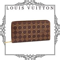Louis Vuitton DAMIER Other Check Patterns Canvas Blended Fabrics Studded