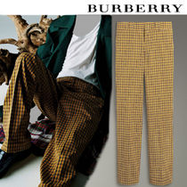 Burberry Tapered Pants Other Check Patterns Cotton Tapered Pants