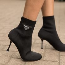 PRADA Plain Pin Heels Ankle & Booties Boots