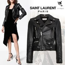Saint Laurent Plain Biker Jackets