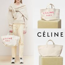 CELINE Casual Style Unisex Canvas A4 Totes