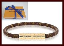 Louis Vuitton Leather Elegant Style Bracelets