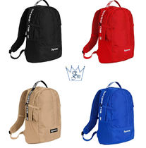 Supreme Unisex Street Style Backpacks