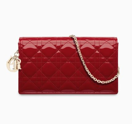 4175ce7567 Christian Dior DIORAMA 2017-18AW Chain Plain Leather Party Style Clutches