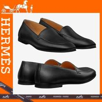 HERMES Loafers Plain Leather U Tips Loafers & Slip-ons